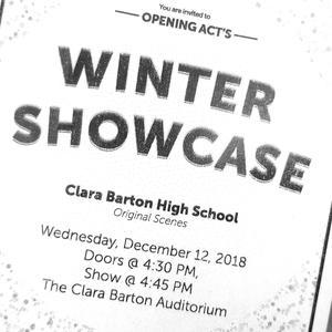 Winter showcase flyer