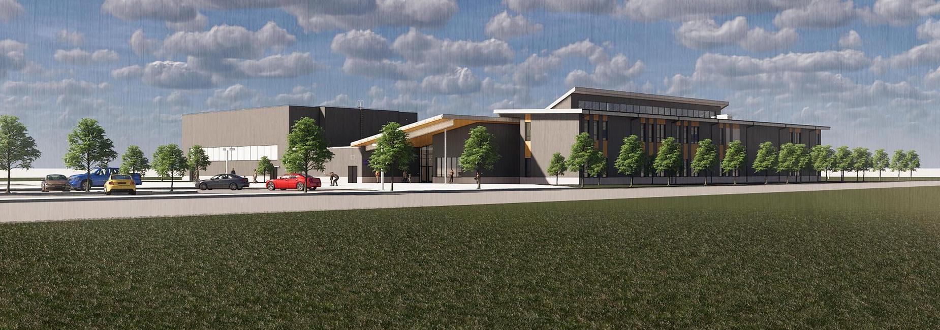 NE rendering of new school