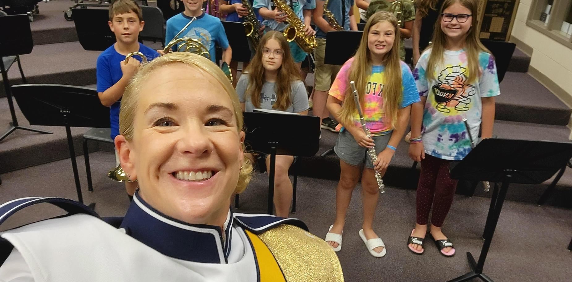 kids and music director at summer band