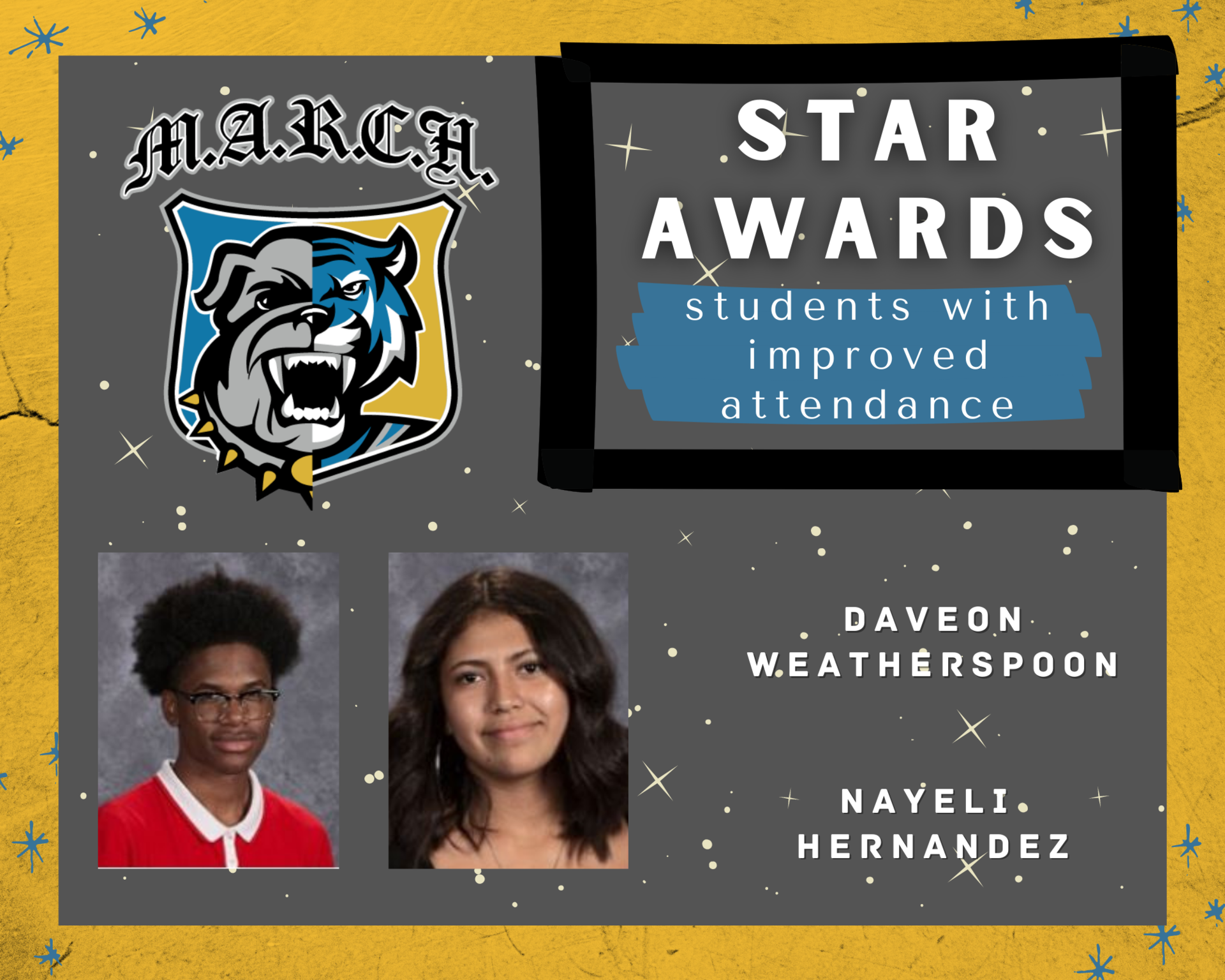 Team MARCH: STAR Awards-Week 1