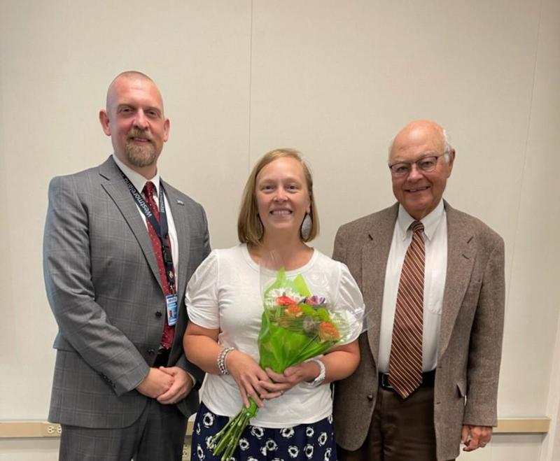 Dr. Jason Conway, WIU-Executive Director; Ms. Holly Tonkin, Clairview School Teacher; and Mr. Paul Scheinert, President-WIU Board of Directors
