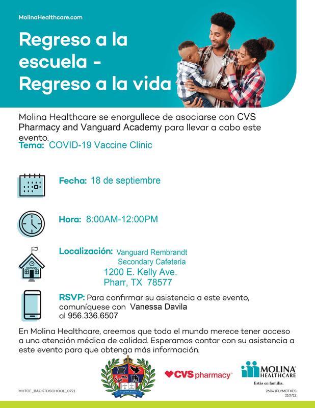 COVID-19 vaccine Information/ Informacio de COVID-19 vacunas Featured Photo