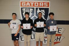 Beau Chene High School PBIS Most Improved Gators for the 2nd nine week reporting period.