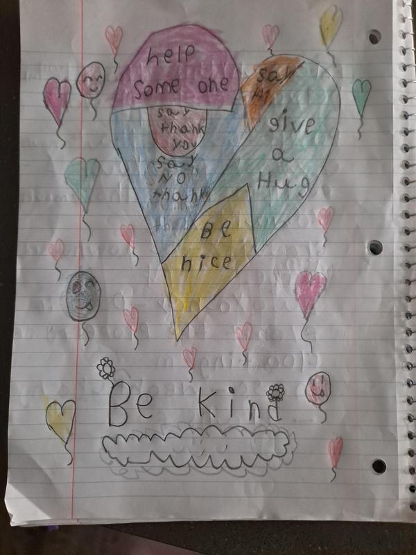 Casandra's kindness heart drawing