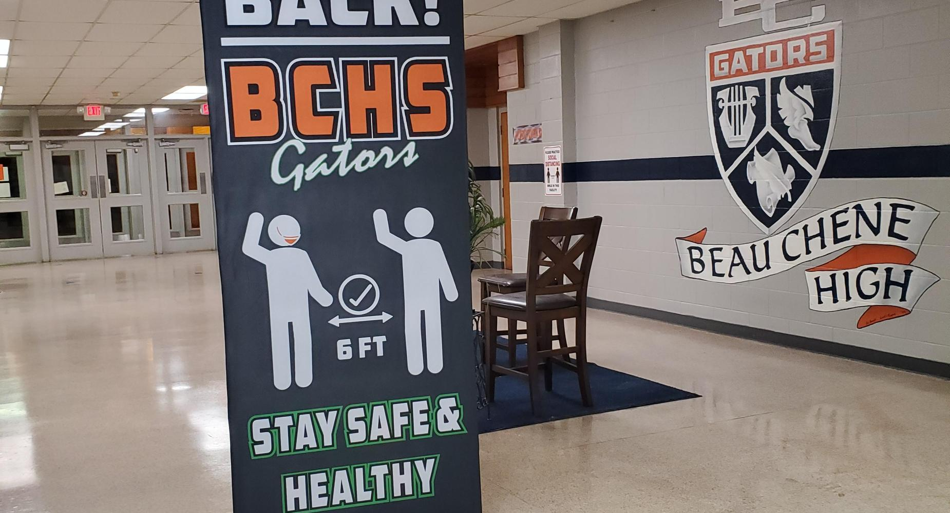 Welcome Back Gator Sign - Stay Safe & Healthy