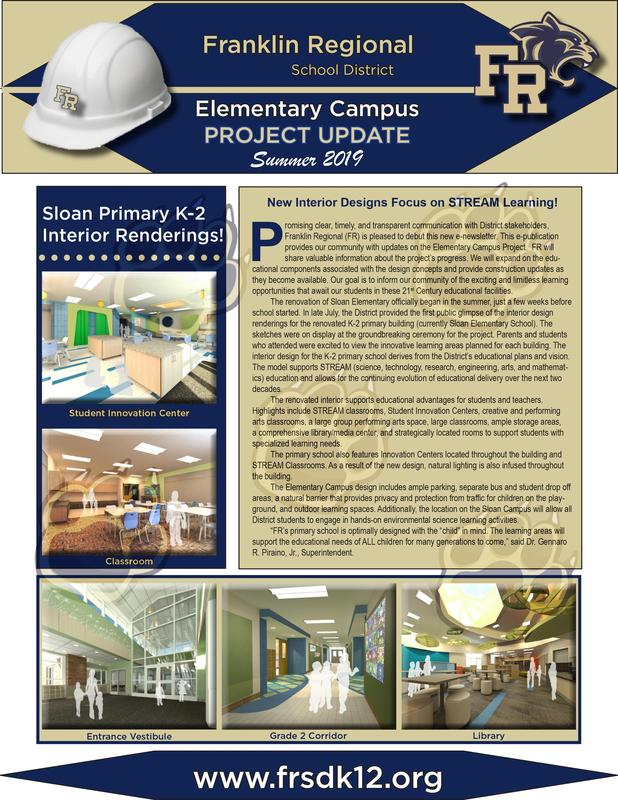 Elementary Campus Project's construction and rennovation e-newletter