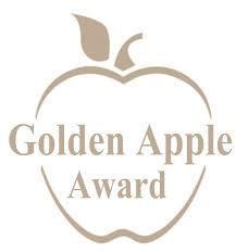 Golden Apple Image with words Golden Apple Award