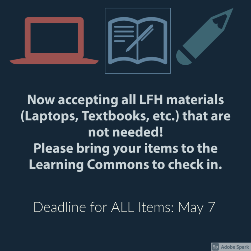 Please return all LFH Matierals if no longer needed