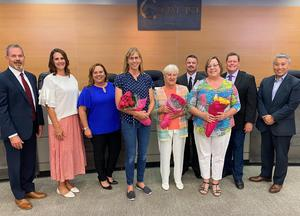 Board of Trustees with retirees