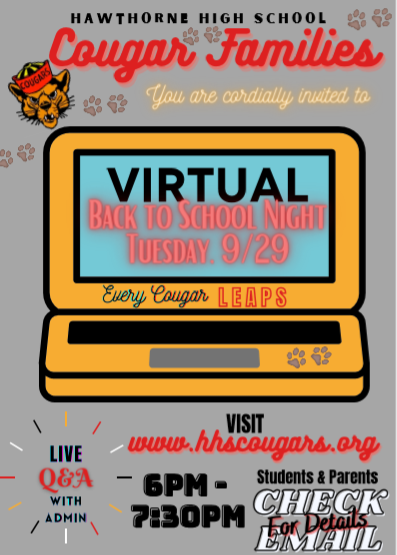Virtual Back To School Night Featured Photo