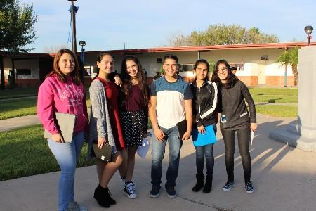 Six of our MJHS students pose for a photo at a UIL meet.