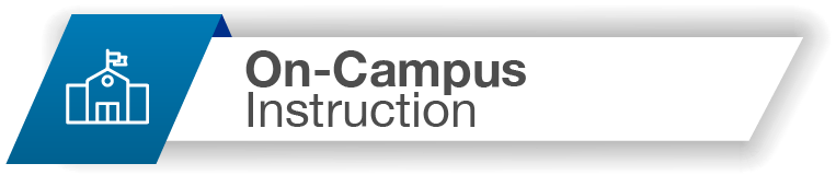 On-Campus Instruction Button