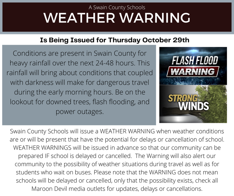 Weather Warning 10/28 graphic