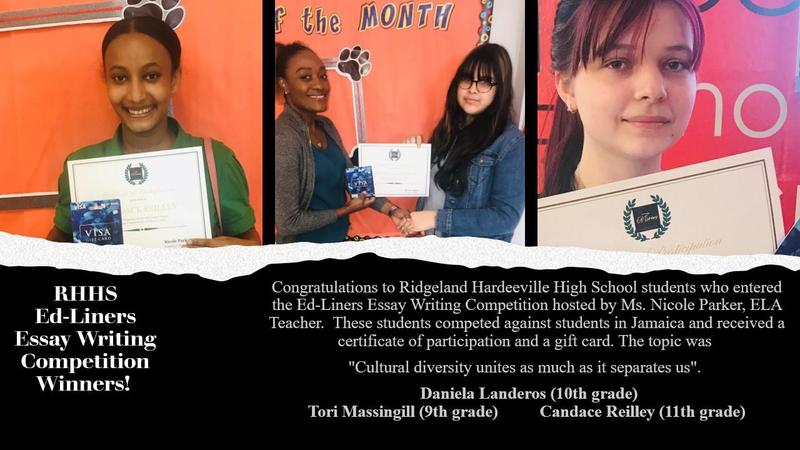 RHHS Ed Liners Essay Writing Contest Winners Featured Photo