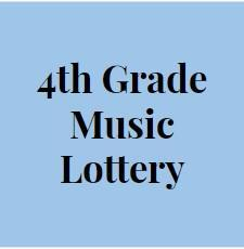 4th grade music lottery sign