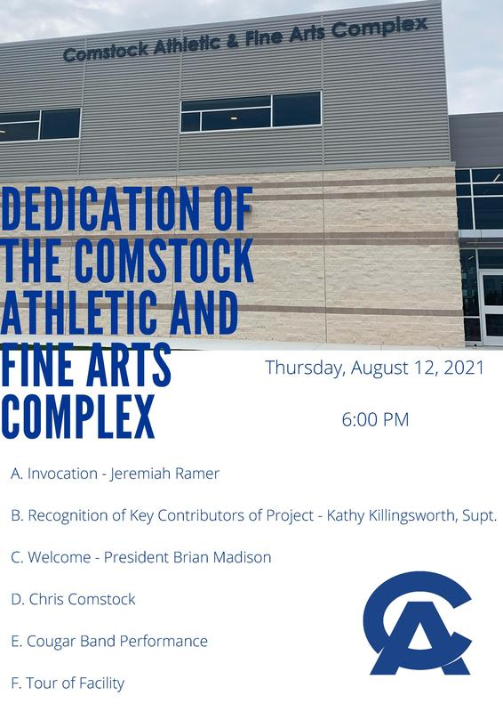 Dedication of the Comstock Athletic and Fine Arts Complex Featured Photo