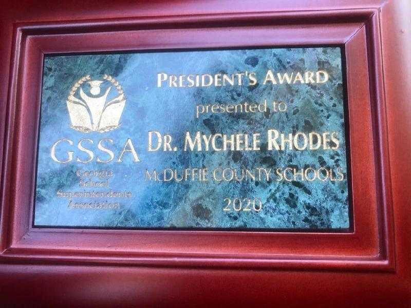 Dr. Rhodes Earns GSSA President's Award Featured Photo