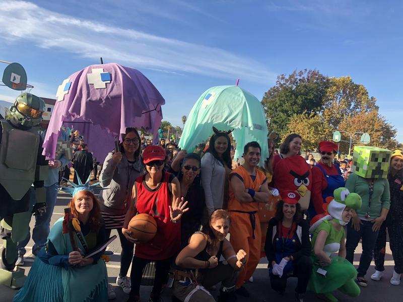Santee staff dressed in costume on Halloween