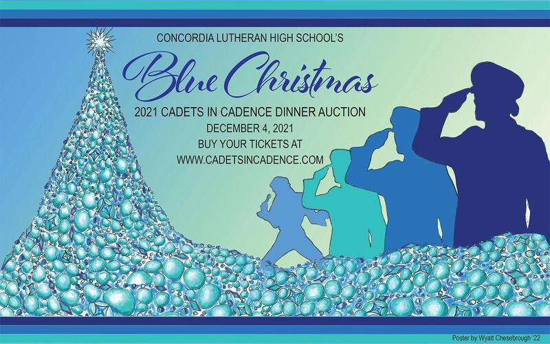 """Get your tickets for Concordia's Cadets in Cadence 'Blue Christmas"""" Dinner Auction Featured Photo"""