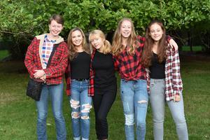Students at barn bash