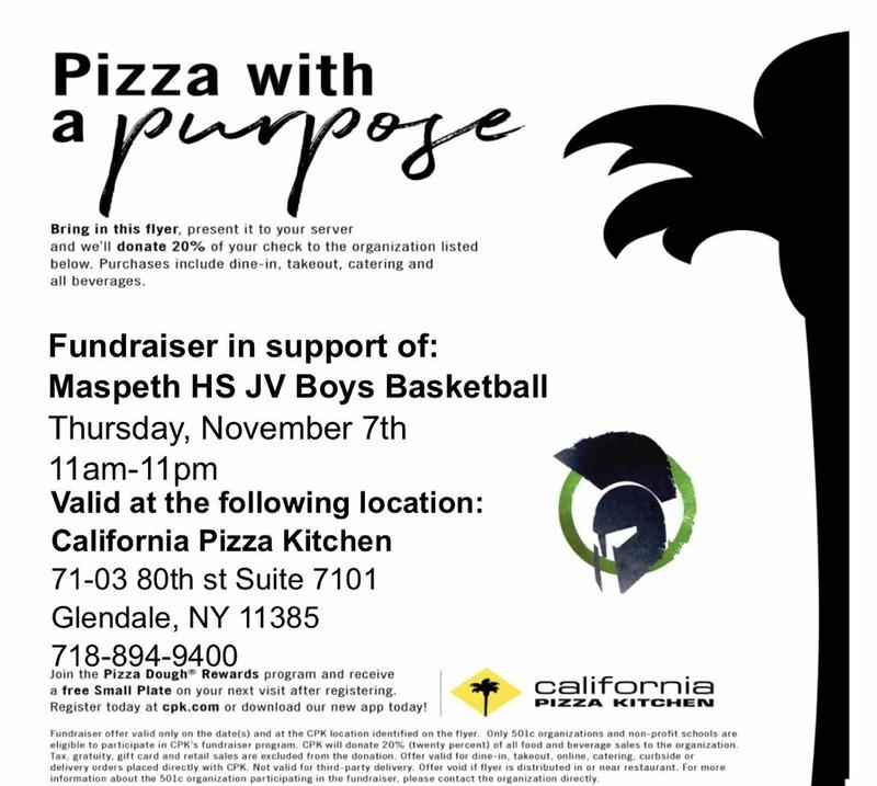 Join the Maspeth High School Community @ California Pizza Kitchen Featured Photo