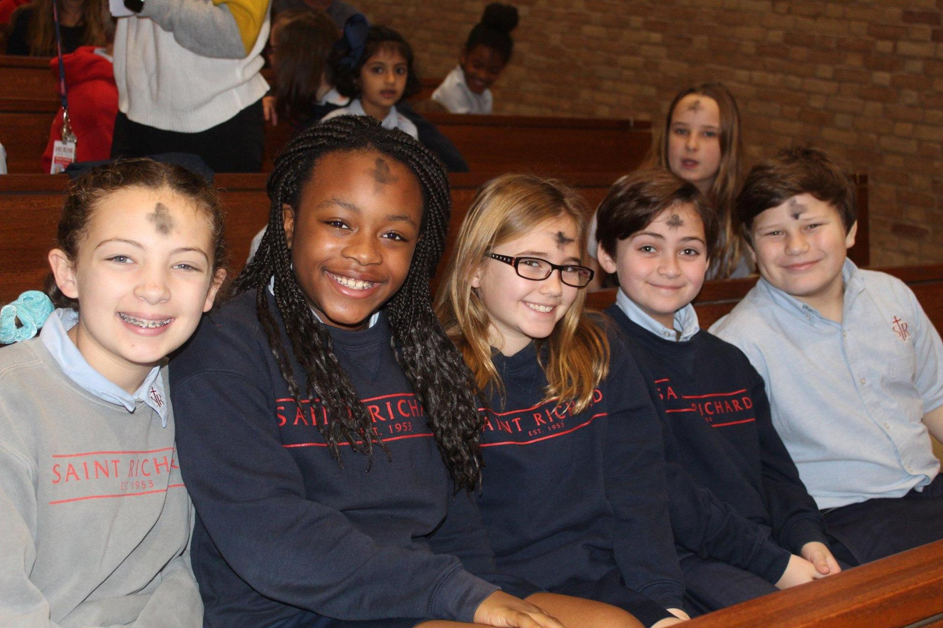 St Richard students on Ash Wednesday
