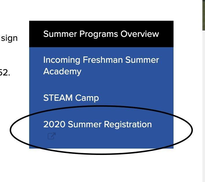 2020 Summer School Registration