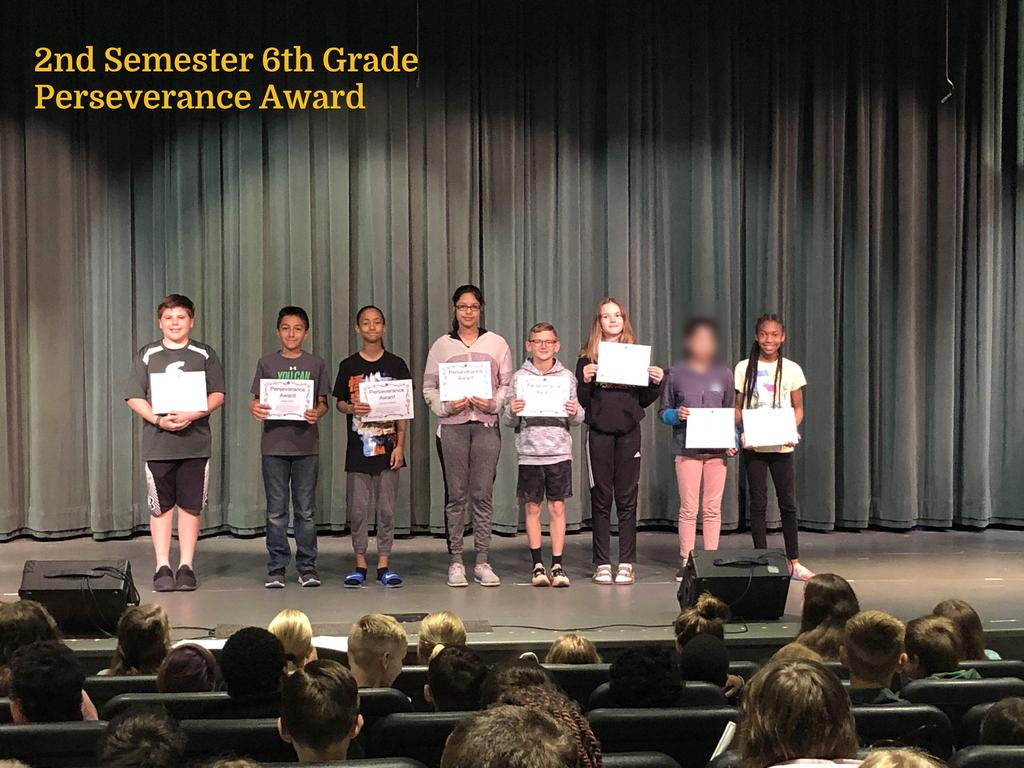 6th Grade Perseverance Award