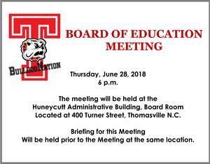 June 28th Board meeting public notice flyer