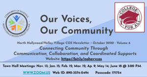 Community of Schools Newsletter Image with Zoom ID and Password