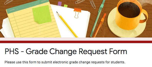 Grade Change Request