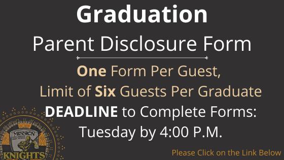 GRADUATION: Parent Disclosure Form Featured Photo