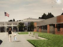 Architect rendering of new Shiloh Hills Elementary.