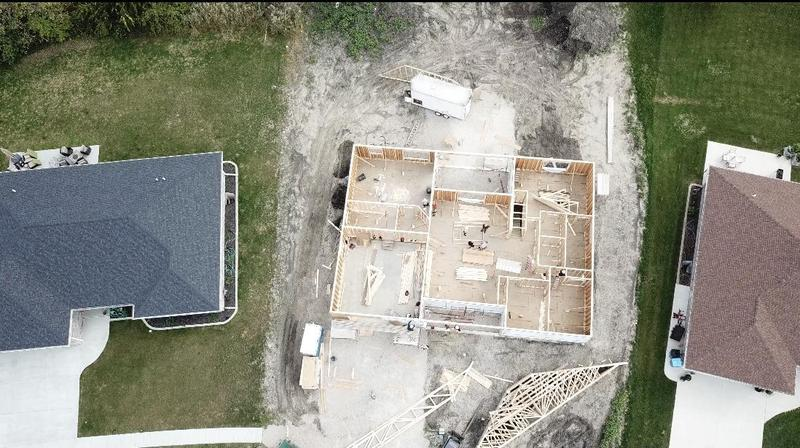 Aerial view of project house 26