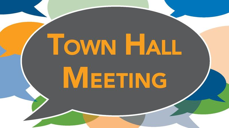 Image that reads Town Hall Meeting to announce an article, no link