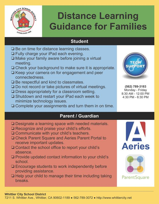Learning guidance for families