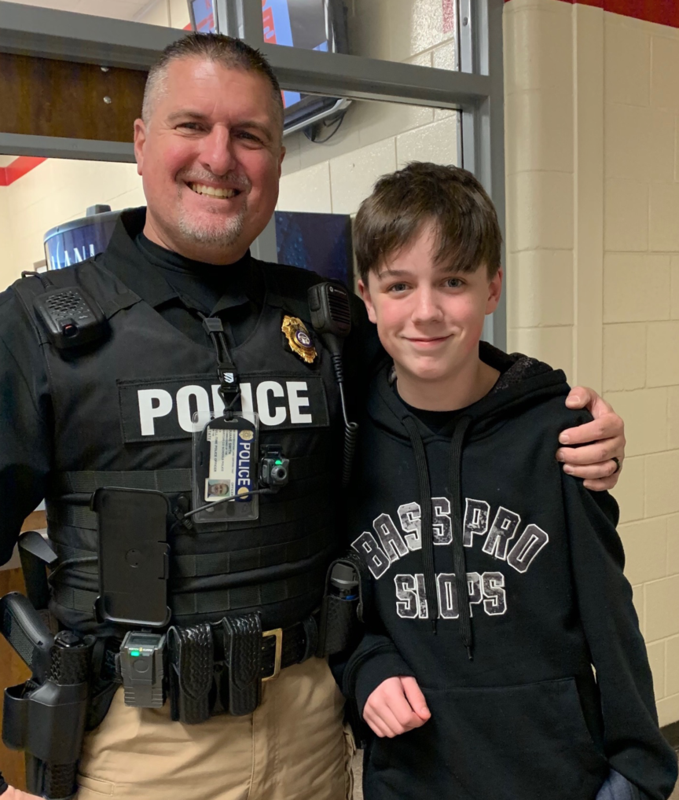 Red Top Middle School student saved by school resource officer after choking incident.