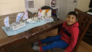 Saulo with his project