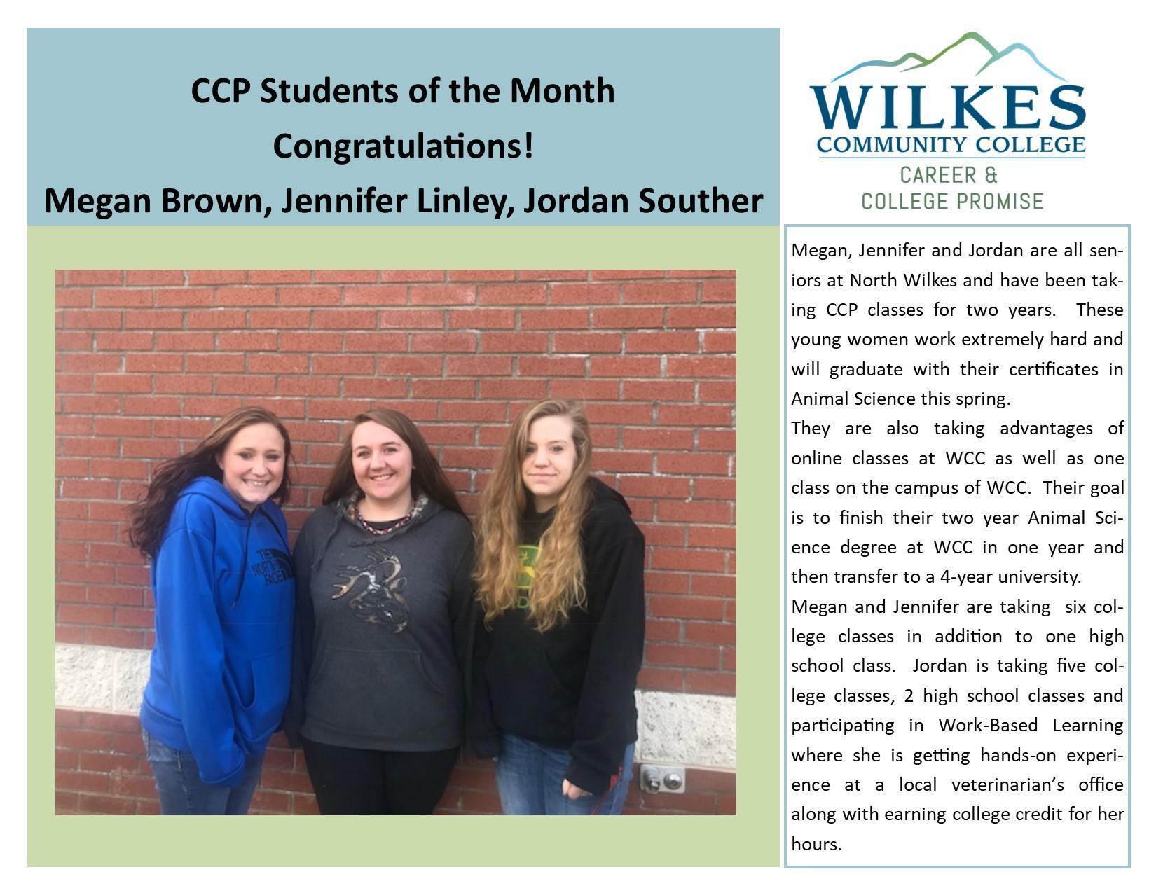 CCP Students of the Month