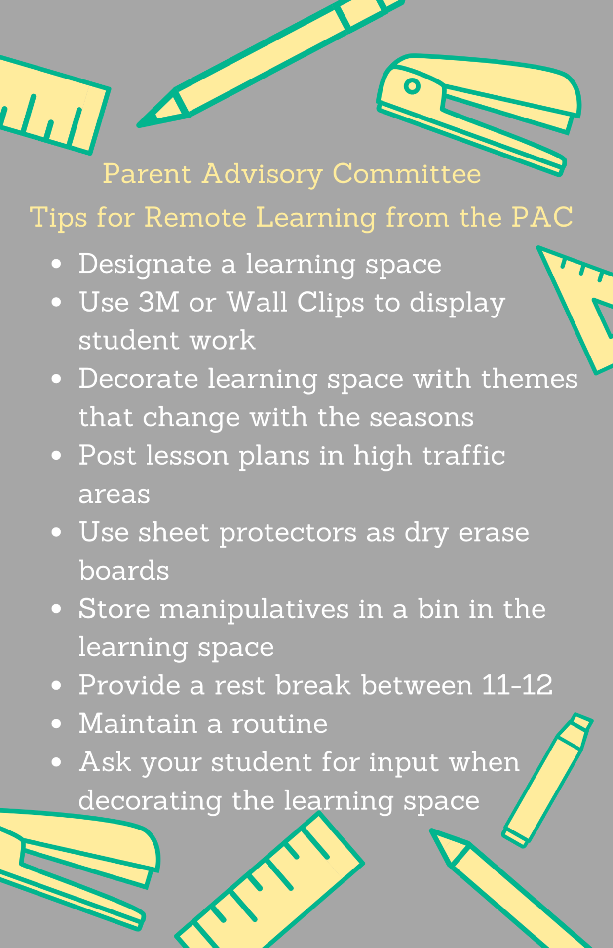Remote Learning Tips and Tricks