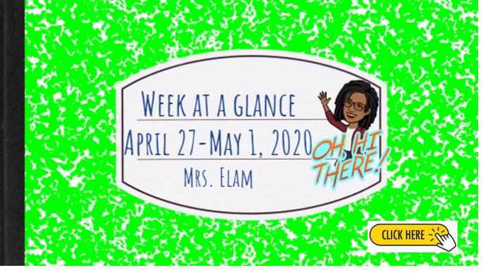 Week at a Glance Apr. 27-May 1