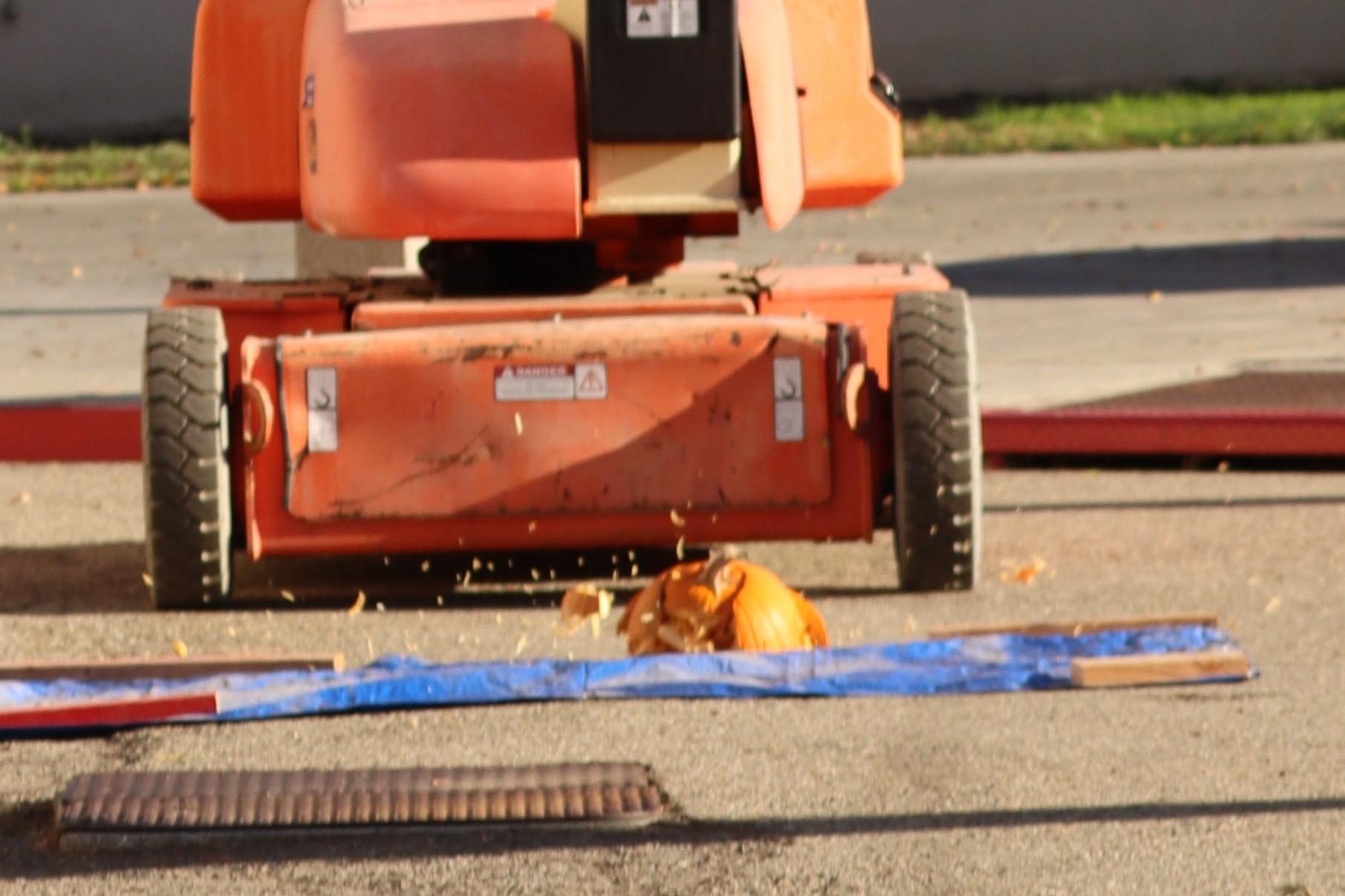 Control pumpkin impact.