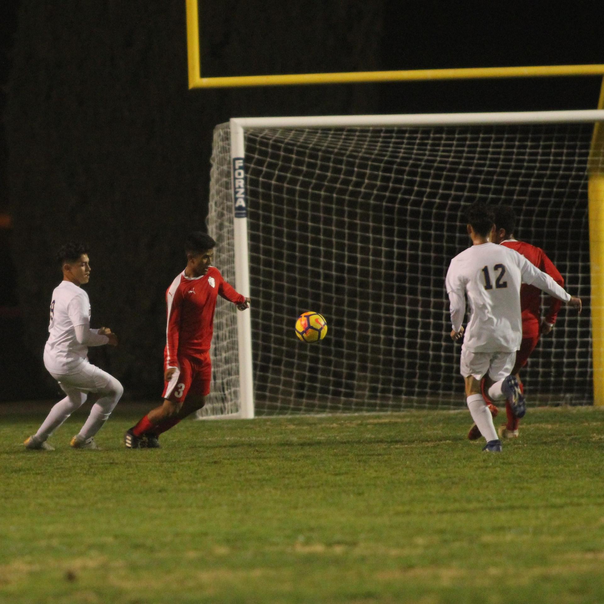 Alejandro Montes Attacking the Ball