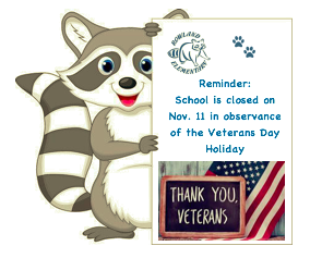 Veterans Day Holiday, November 11 Featured Photo