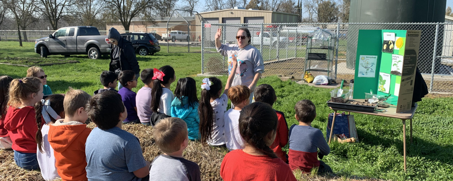 Students learn about gardens.