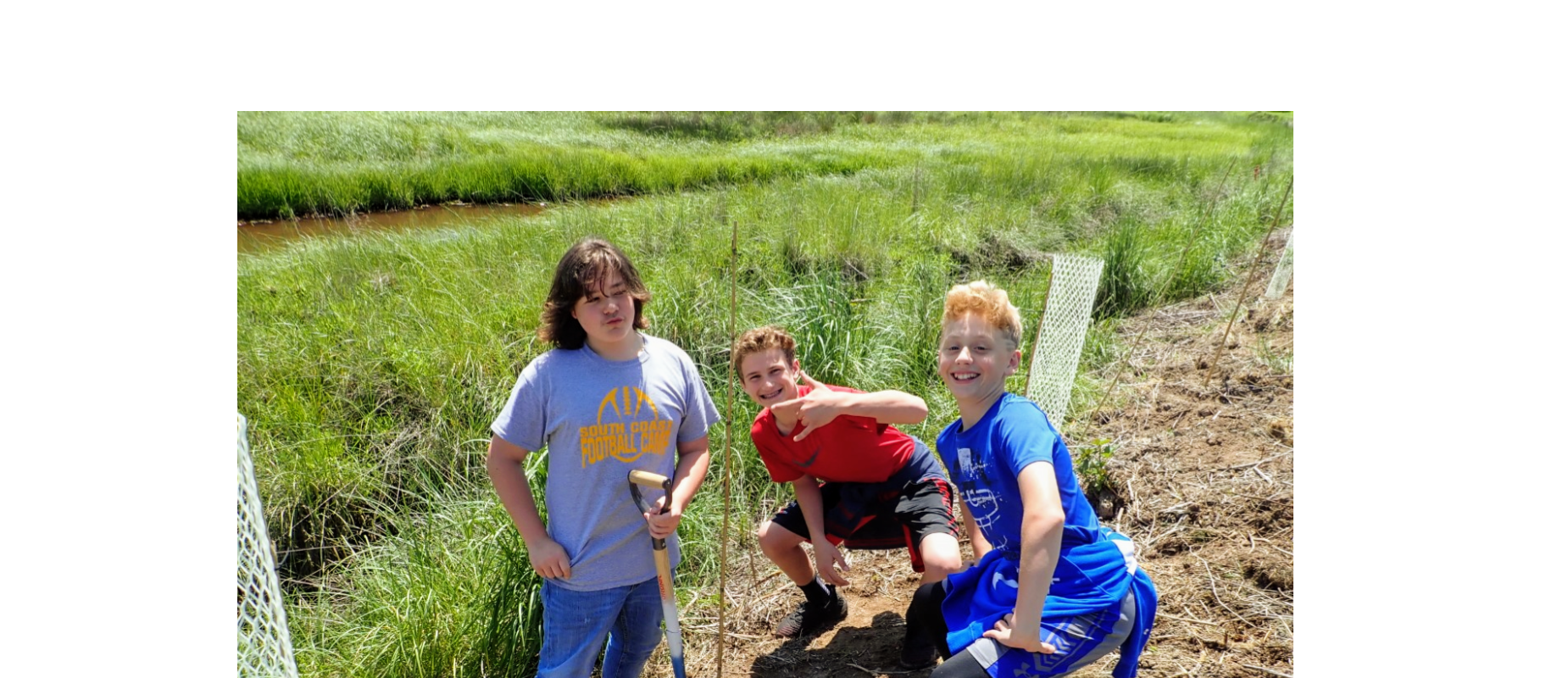 Boys at Millicoma Marsh