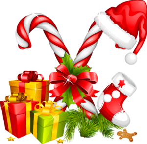 Santa_Hat_Gifts_and_Candy_Canes_Christmas_Decoration.png