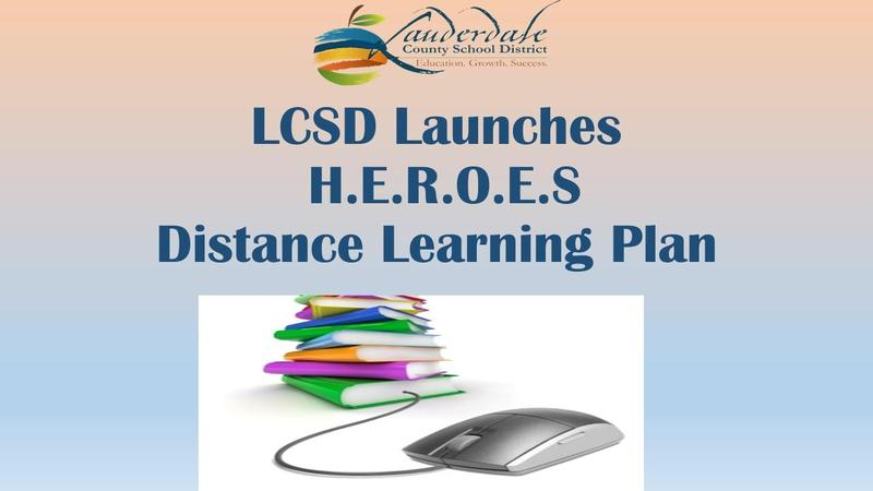 LCSD Distance Learning Plan Flyer