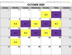 October Hybrid Schedule