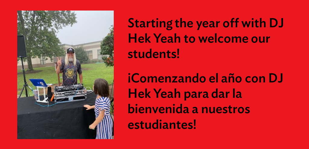 DJ Hek Yeah welcoming students!
